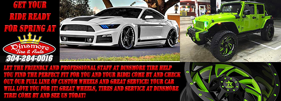 Tires Morgantown, WV - Auto Repair Service Morgantown, WV Dinsmore ...